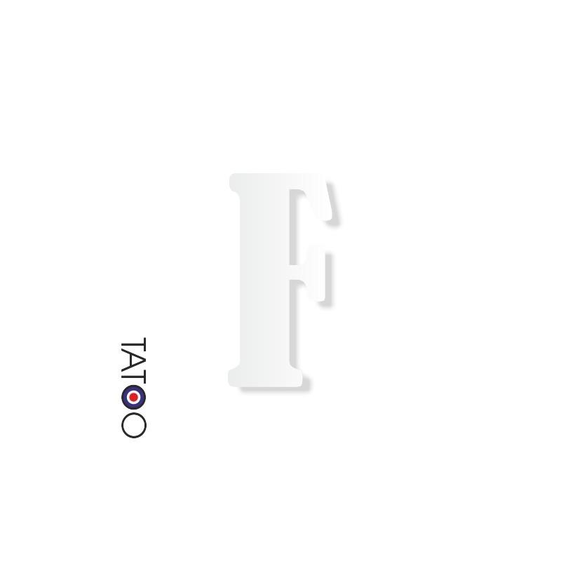 lettre polystyrène F caractère bernard texte volume