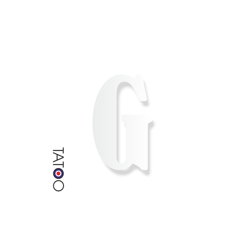 lettre polystyrène G caractère bernard texte volume