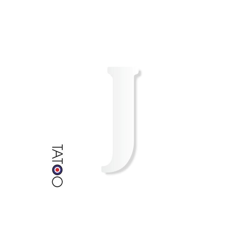 lettre polystyrène J caractère bernard texte volume