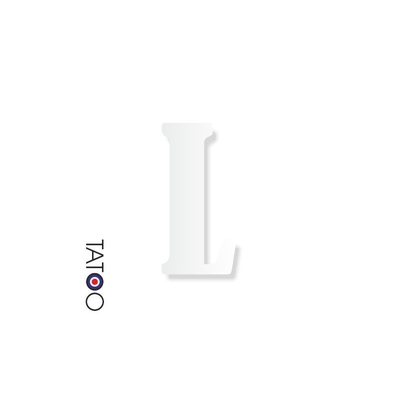 lettre polystyrène L caractère bernard texte volume