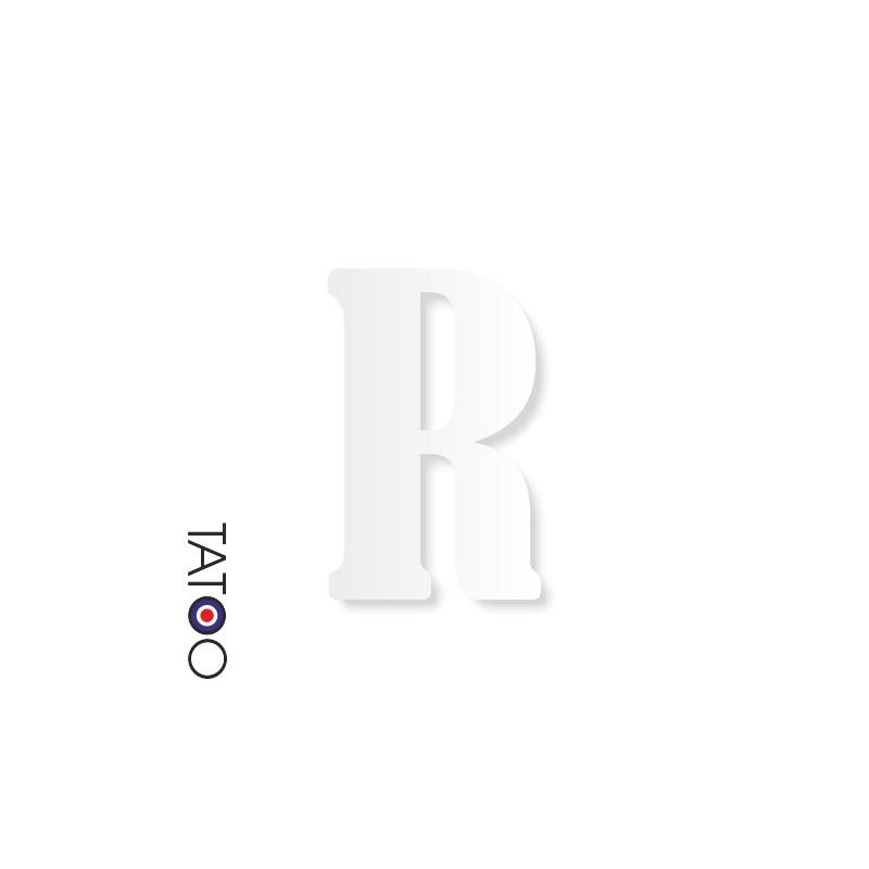 lettre polystyrène R caractère bernard texte volume