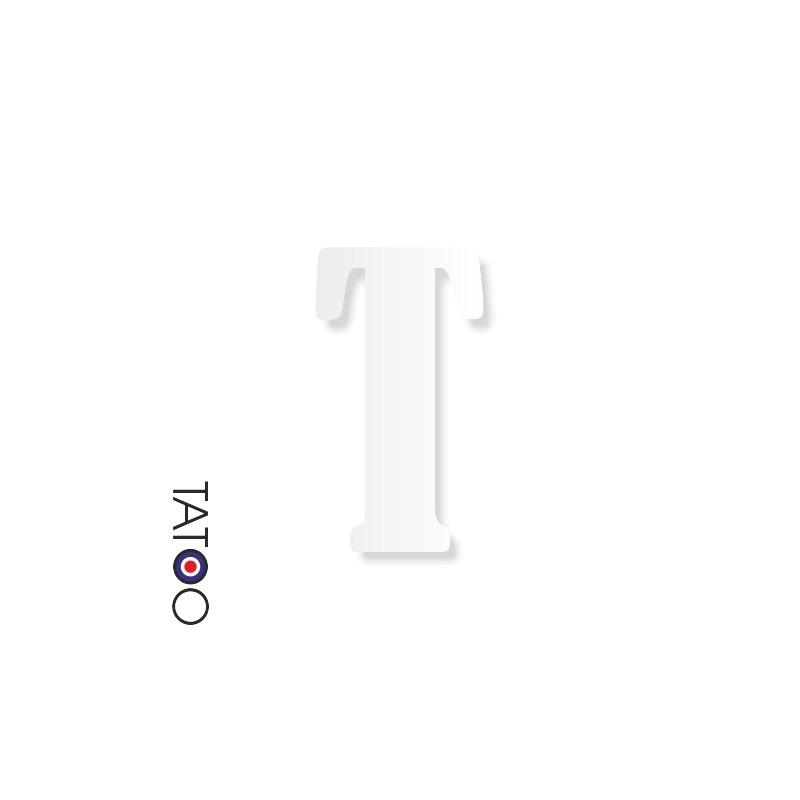 lettre polystyrène T caractère bernard texte volume