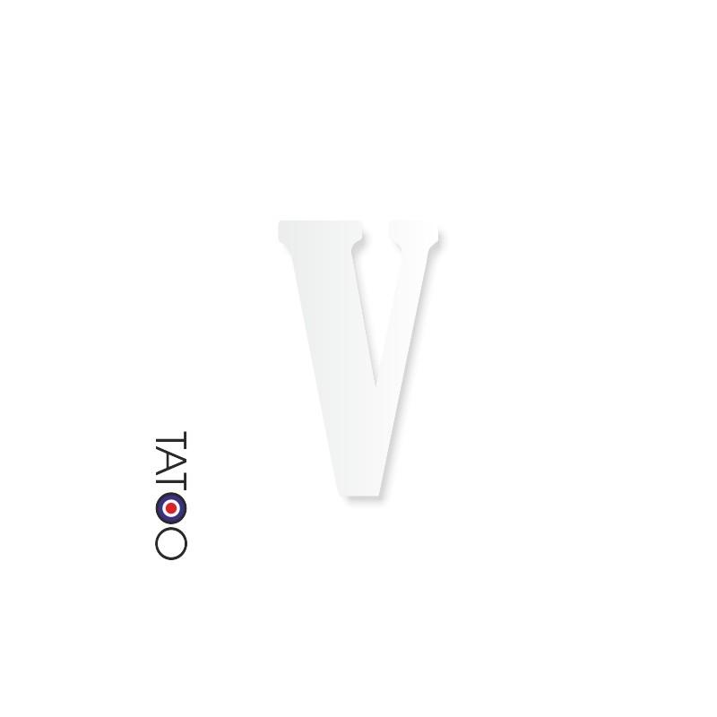 lettre polystyrène V caractère bernard texte volume