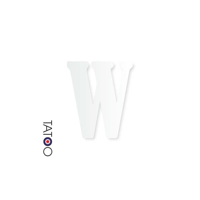 lettre polystyrène W caractère bernard texte volume