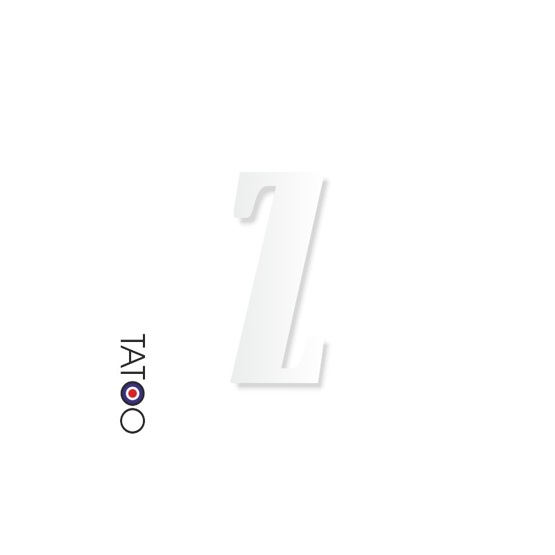 lettre polystyrène Z caractère bernard texte volume