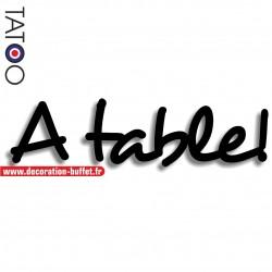 Texte à table ! en pvc...