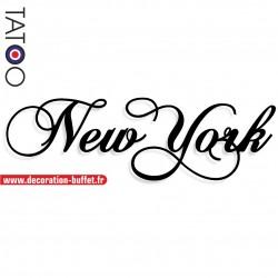 Nom New York en pvc rigide...