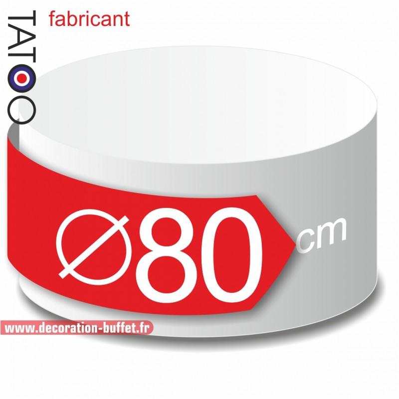 Rond polystyrène diamètre 80 cm - disque - cercle - dummy différentes épaisseurs