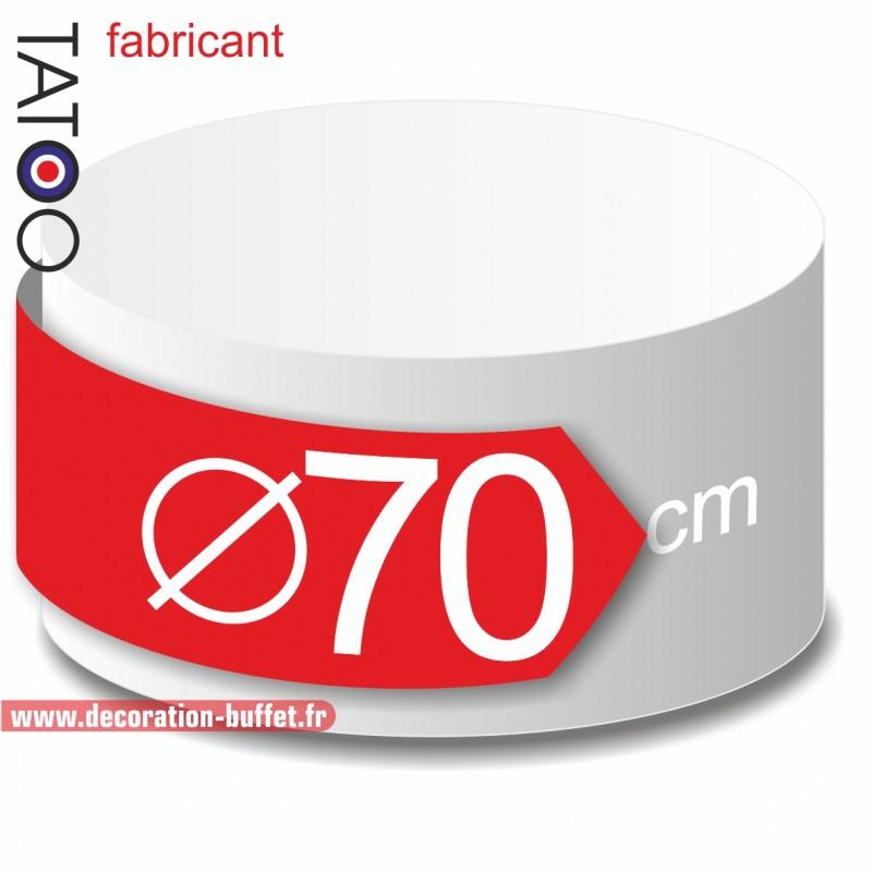 Rond polystyrène diamètre 70 cm - disque - cercle - dummy différentes épaisseurs