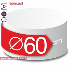 Rond polystyrène diamètre 60 cm - disque - cercle - dummy différentes épaisseurs