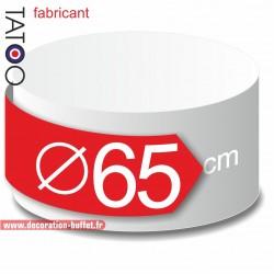Rond polystyrène diamètre 65 cm - disque - cercle - dummy différentes épaisseurs