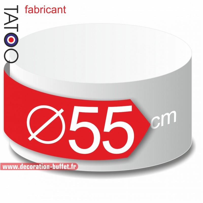 Rond polystyrène diamètre 55 cm - disque - cercle - dummy différentes épaisseurs