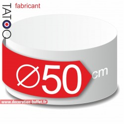 Rond polystyrène diamètre 50 cm - disque - cercle - dummy différentes épaisseurs