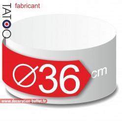 Rond polystyrène diamètre 36 cm - disque - cercle - dummy différentes épaisseurs