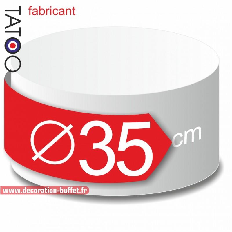 Rond polystyrène diamètre 35 cm - disque - cercle - dummy différentes épaisseurs