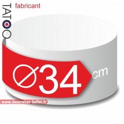 Rond polystyrène diamètre 34 cm - disque - cercle - dummy différentes épaisseurs