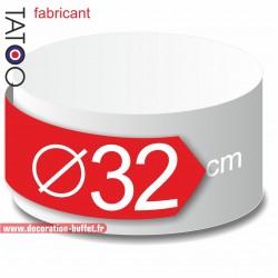 Rond polystyrène diamètre 32 cm - disque - cercle - dummy différentes épaisseurs
