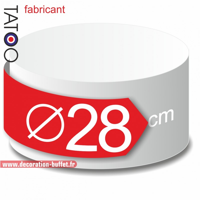 Rond polystyrène diamètre 28 cm - disque - cercle - dummy différentes épaisseurs