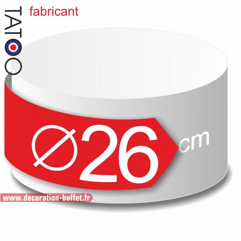 Rond polystyrène diamètre 26 cm - disque - cercle - dummy différentes épaisseurs
