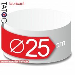 Rond polystyrène diamètre 25 cm - disque - cercle - dummy différentes épaisseurs