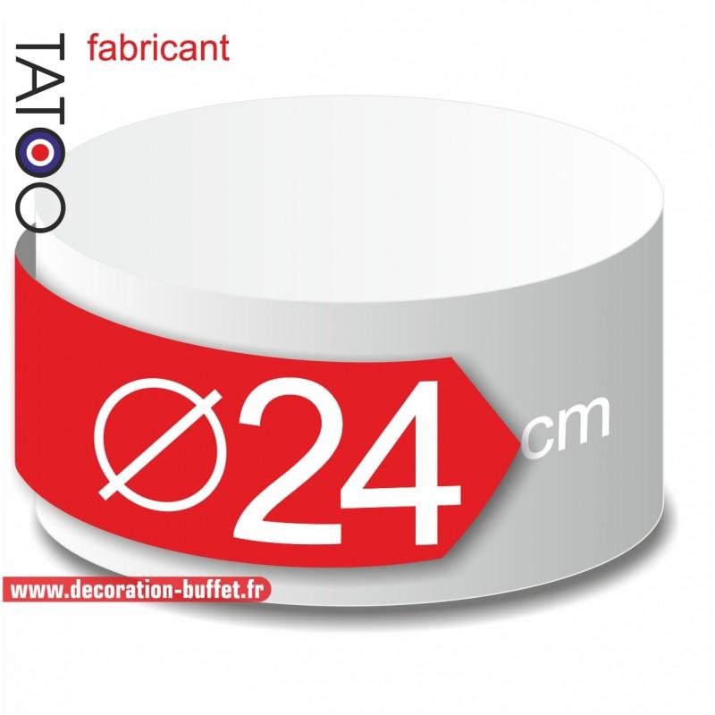 Rond polystyrène diamètre 24 cm - disque - cercle - dummy différentes épaisseurs