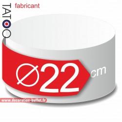 Rond polystyrène diamètre 22 cm - disque - cercle - dummy différentes épaisseurs