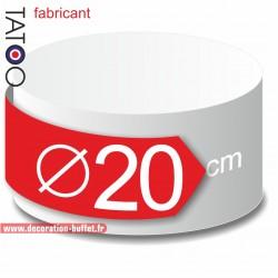 Rond polystyrène diamètre 20 cm - disque - cercle - dummy différentes épaisseurs
