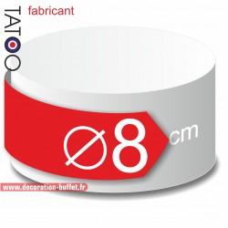 Rond polystyrène diamètre 8 cm - disque - cercle - dummy différentes épaisseurs