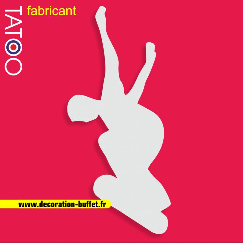 support polystyrene gateau bonbons skate skateboard skateur planche saut sport