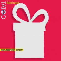 support polystyrene gateau bonbons paquet cadeau - noel - socle