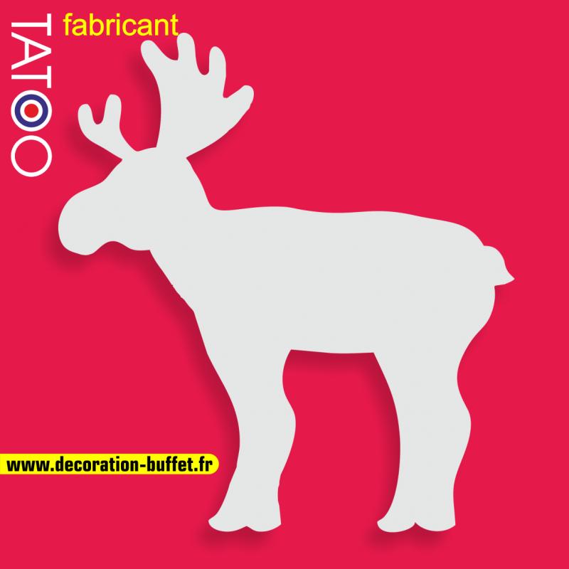 support gateau bonbons élan caribou noël décor