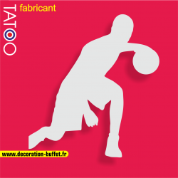 support gateau bonbons basketteur basket ballon dribble sport