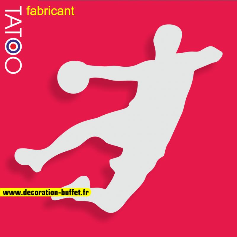 support gateau bonbons handball handballeur balle tir but goal sport