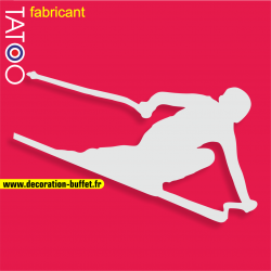 support gateau bonbons skieur ski schuss sport d'hiver glisse