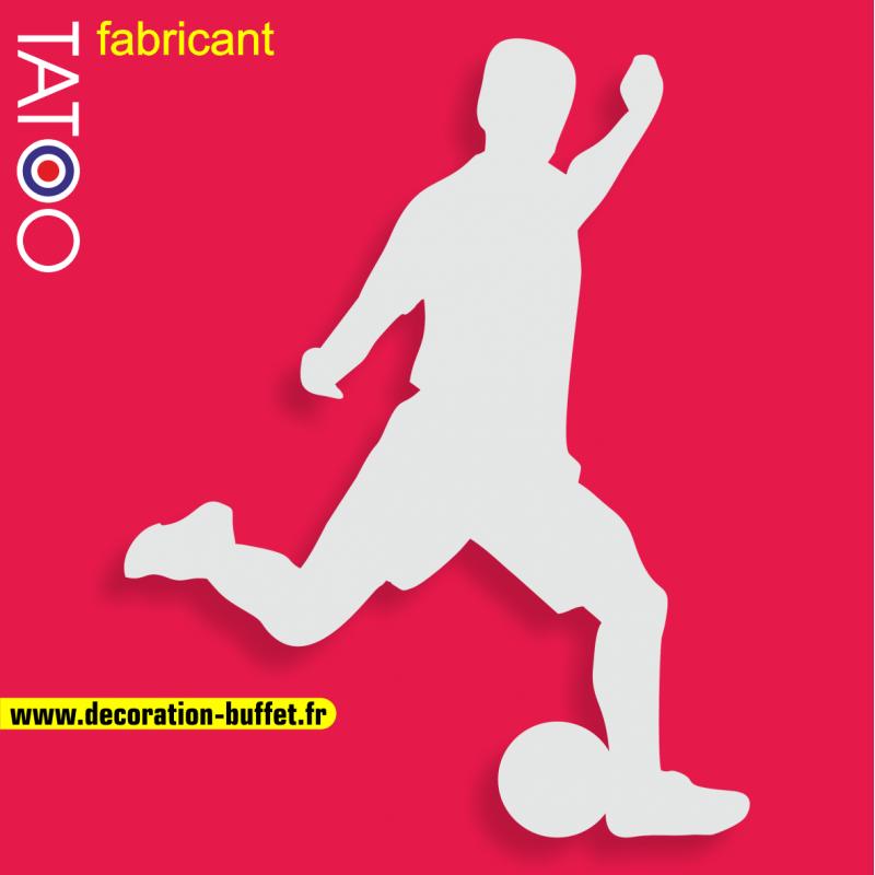 support gateau bonbons footballeur football ballon tir sport