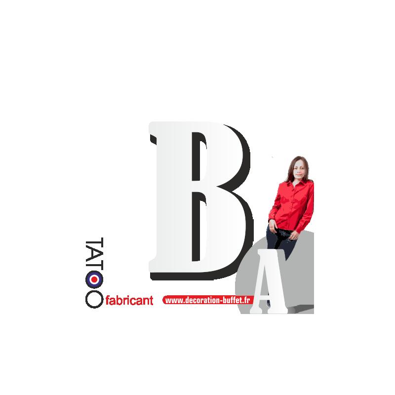 Grande lettre polystyrène B bernard - volume
