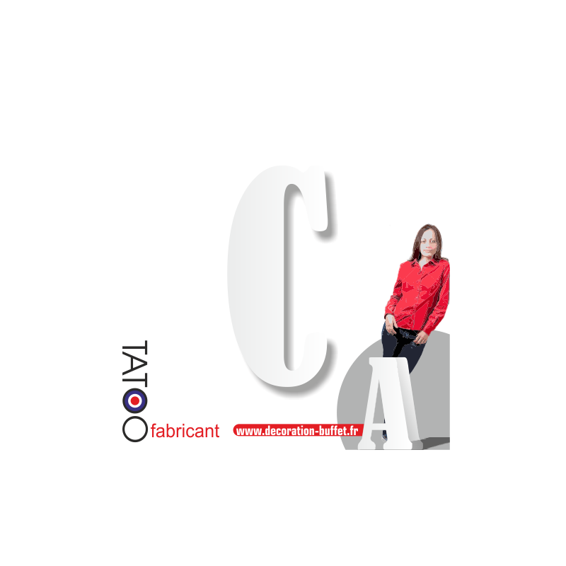 Grande lettre polystyrène C bernard - volume
