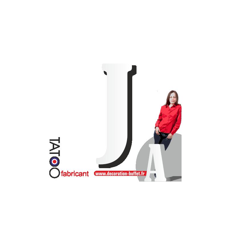 Grande lettre polystyrène J bernard - volume