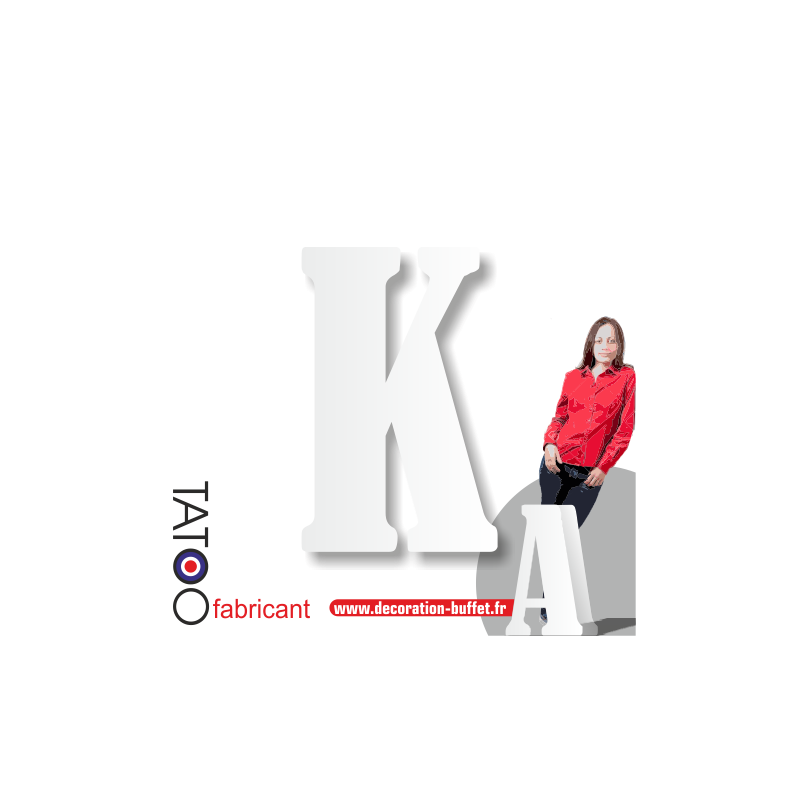 Grande lettre polystyrène K bernard - volume