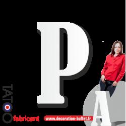 Grande lettre polystyrène P bernard - volume
