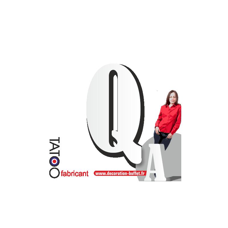 Grande lettre polystyrène Q bernard - volume
