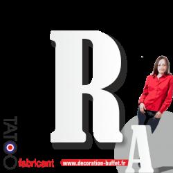 Grande lettre polystyrène R bernard - volume