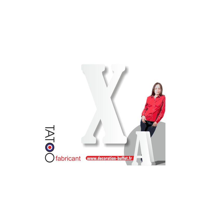 Grande lettre polystyrène X bernard - volume