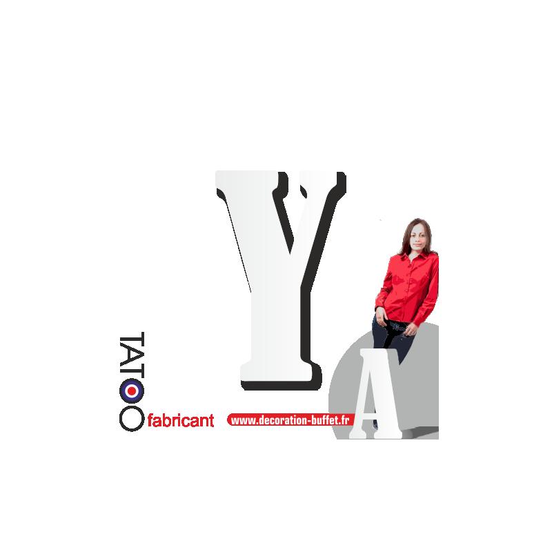 Grande lettre polystyrène Y bernard - volume