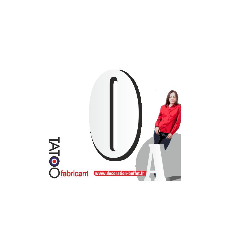Grand chiffre polystyrène 0 bernard - volume