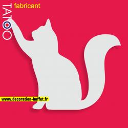 support polystyrène bonbons chat assis qui lève une patte