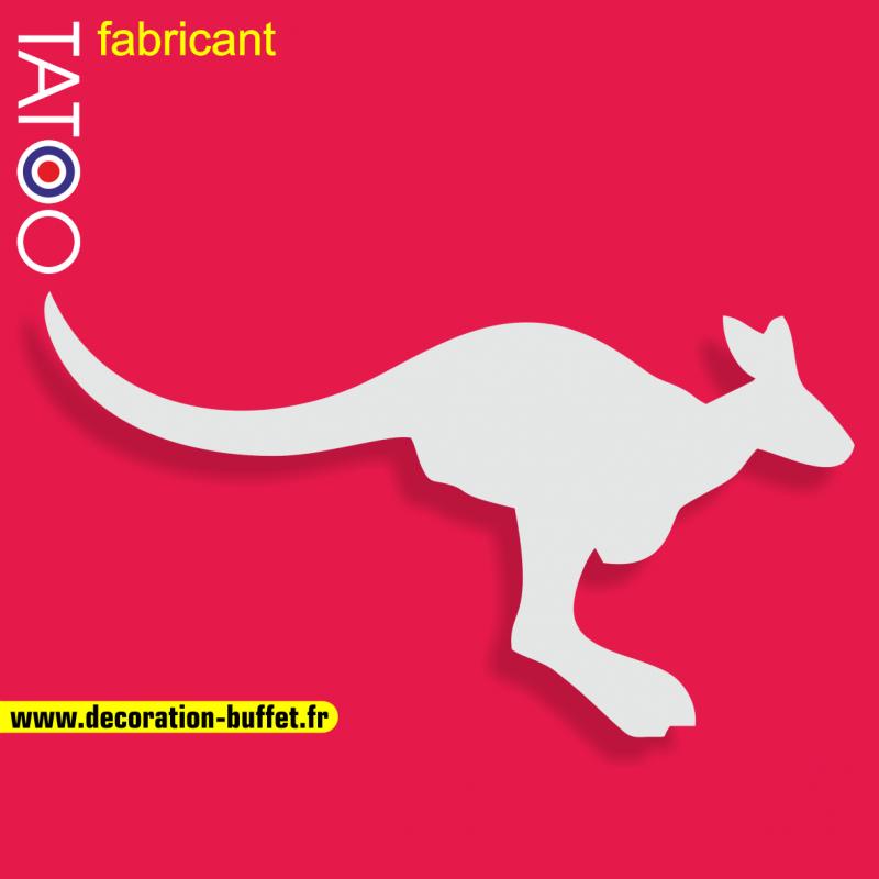 support polystyrène bonbons kangourou qui court