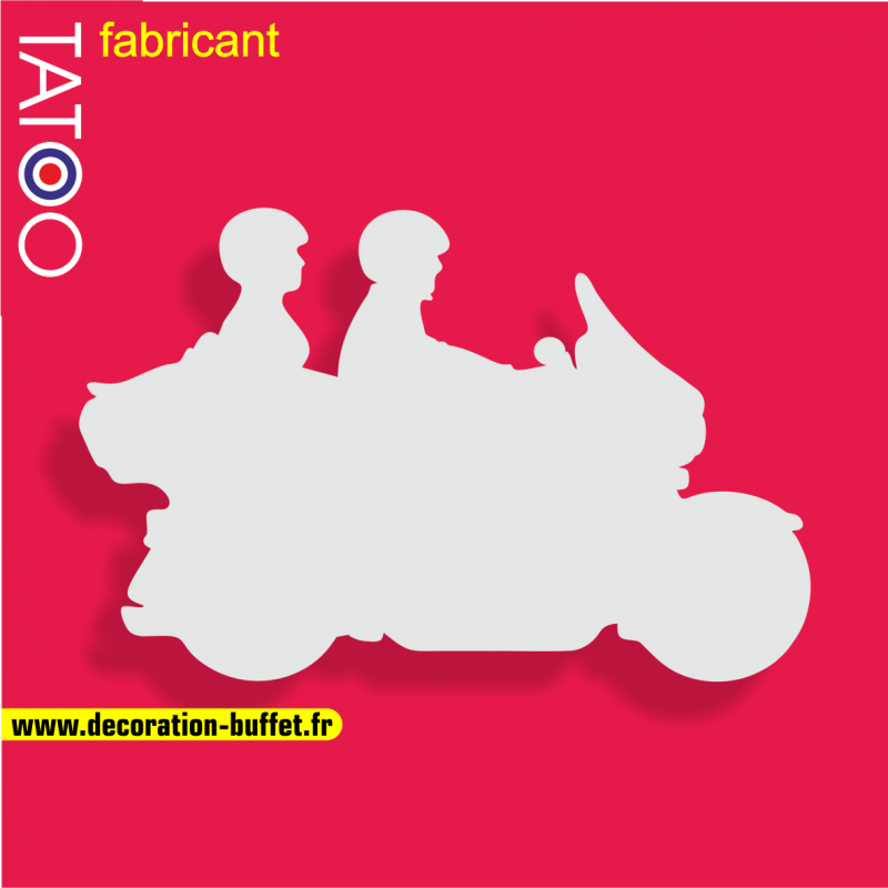 support polystyrène bonbons moto goldwin pilote passager