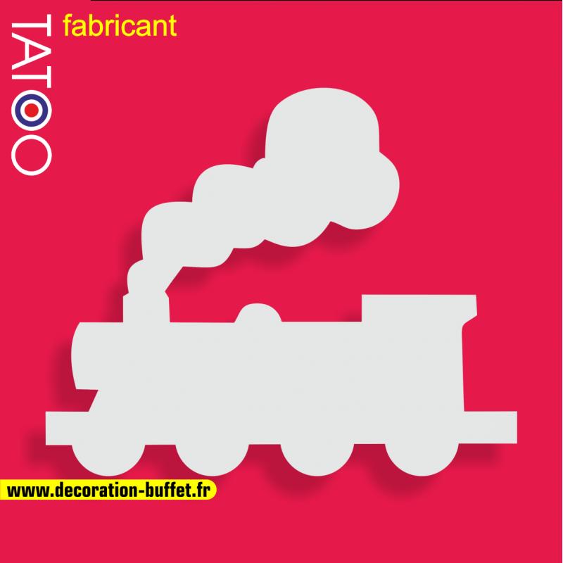 support polystyrène bonbons locomotive à vapeur - train