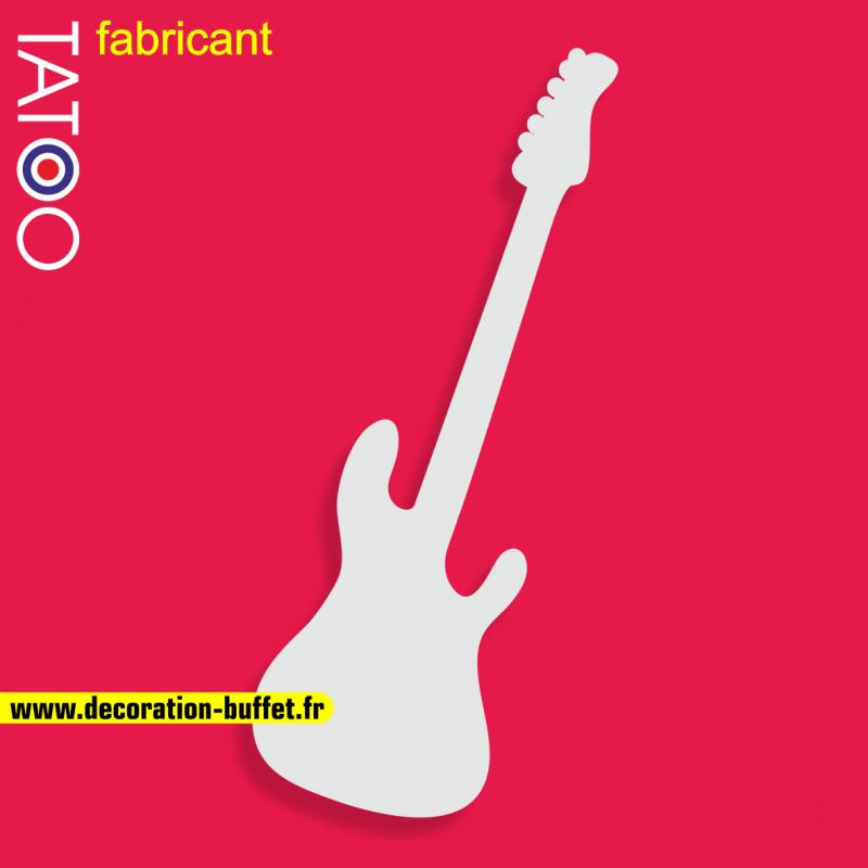 support polystyrène bonbons guitare électrique musique rock